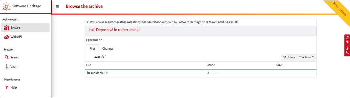 Deposit software source code – HAL Documentation